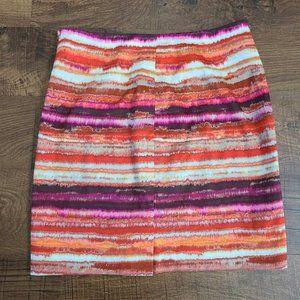 Jones New York watercolor pencil skirt size 6
